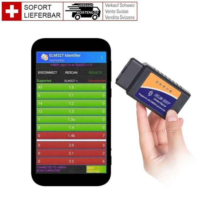 OBD2 Scanner WIFI iPhone Android ELM327