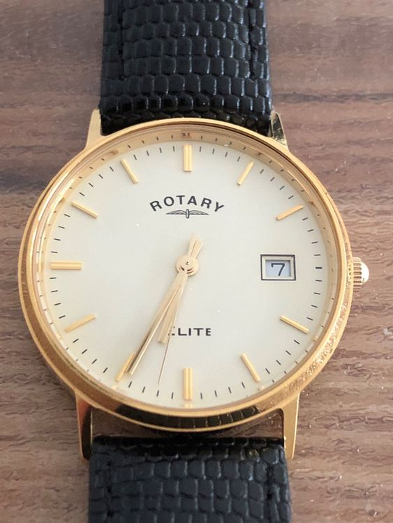Rotary Elite 18 k Gold 33 mm
