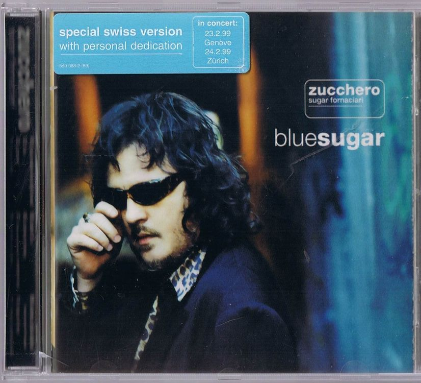 ZUCCERO Blue Sugar Swiss Version 1998 CD