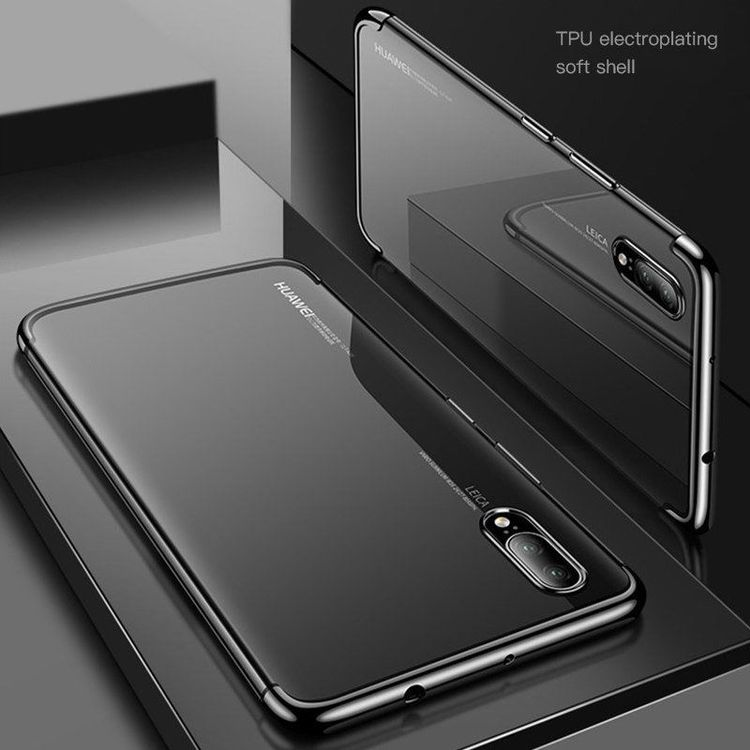Huawei P30 Pro Soft Clear Cover Schwarz