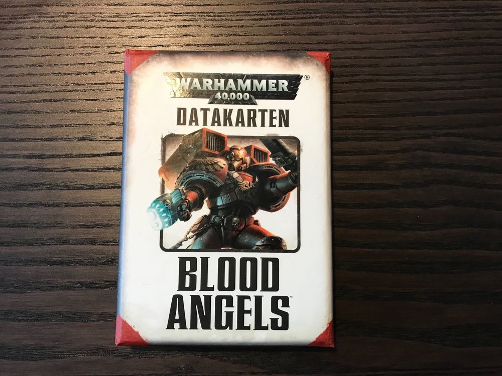 Warhammer 40K Datakarten Blood Angels