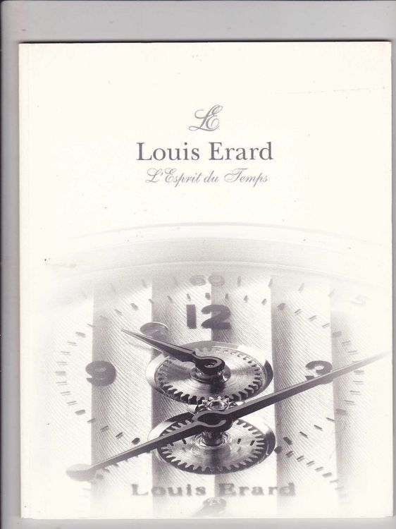 catalogue Louis Erard .. Esprit du temps