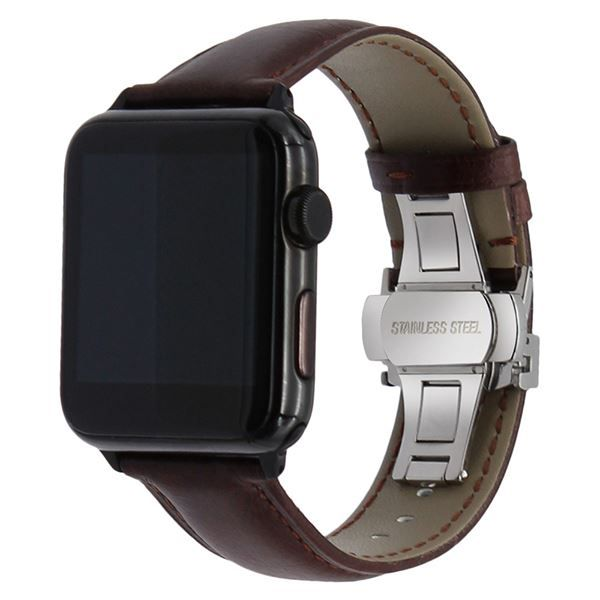 Apple Watch Leder Armband Dunkelbraun