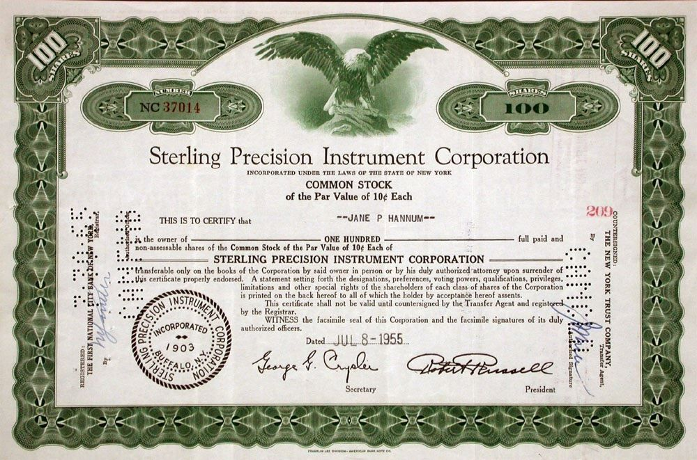 1955: Sterling Precision Instrument Corp