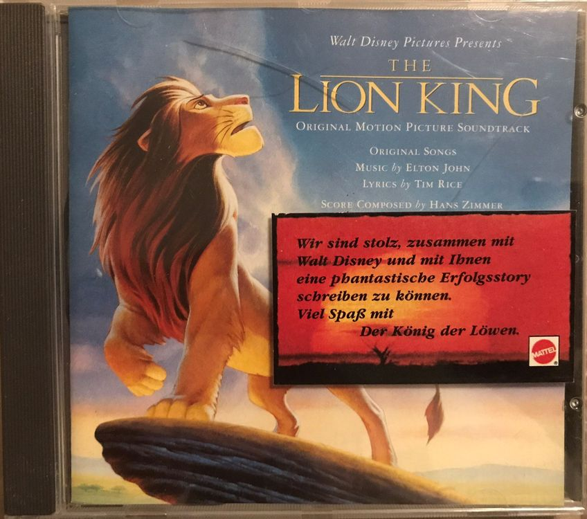 "CD ""Lion King"" Movie Soundtrack"