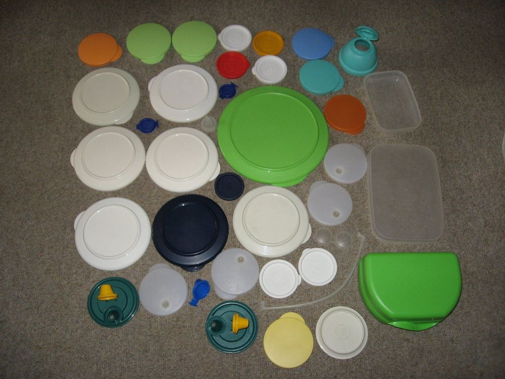 Diverse Tupperware Deckel
