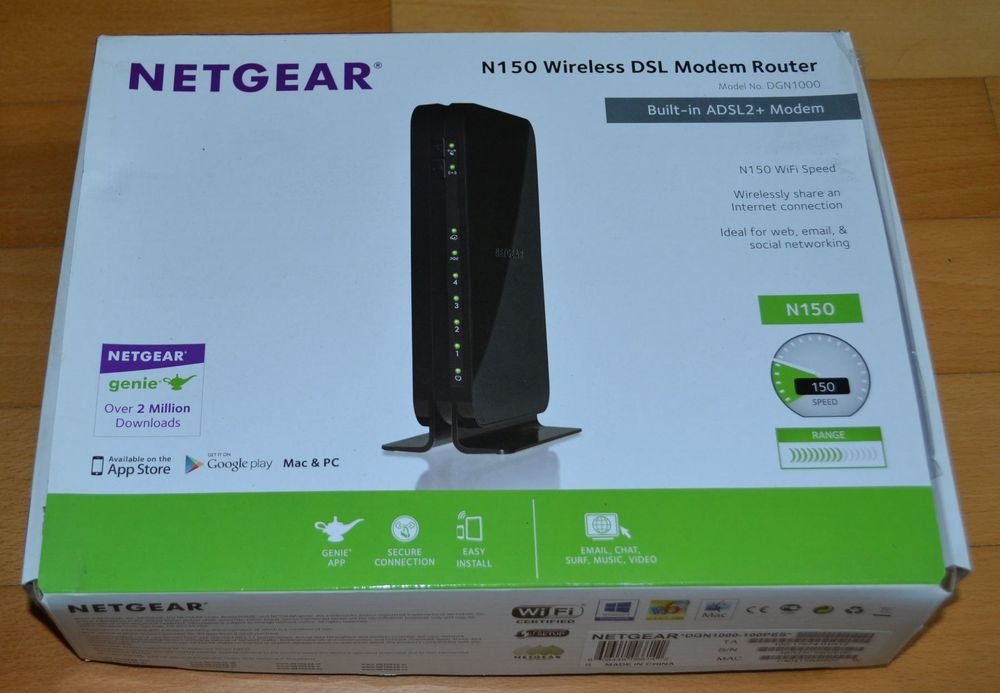 Netgear N150 Wireless DSL Modem Router