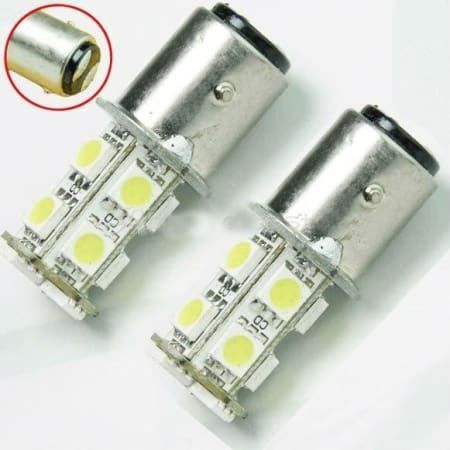 - 2x P21/5W 13 SMD LED Lampe BAY15D 1157