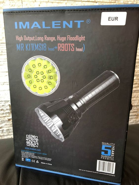 Imalent MS18 & R90TS Kit - alles dabei!