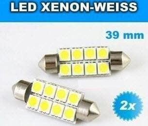 2x LED Innenbeleuchtung  8 SMD 39mm 5050