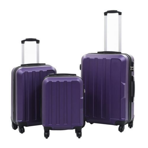 Hardcase Trolley Set 3pcs ABS violet