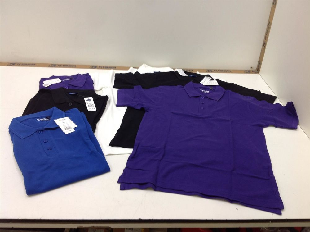 6x Switcher Polo-Shirt, Gr. M