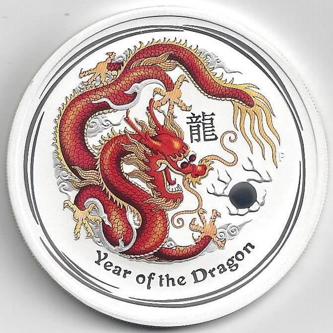 2-Silber-Unze Year of the Dragon 2012