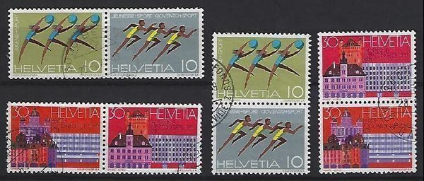 Lot de timbres se-tenants