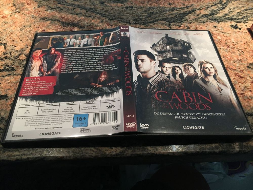 DVD - The Cabin in the Woods
