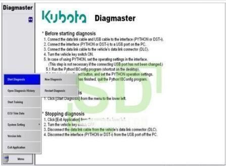 KUBOTA Diagnoseset *Laptop inkl Software