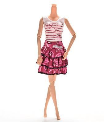 BARBIE KLEID SHIRT - ROCK - SCHUHE