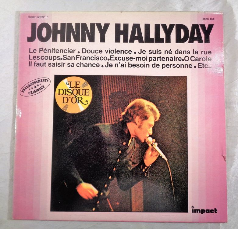 Johnny Hallyday - Le Disque D'Or / Lp
