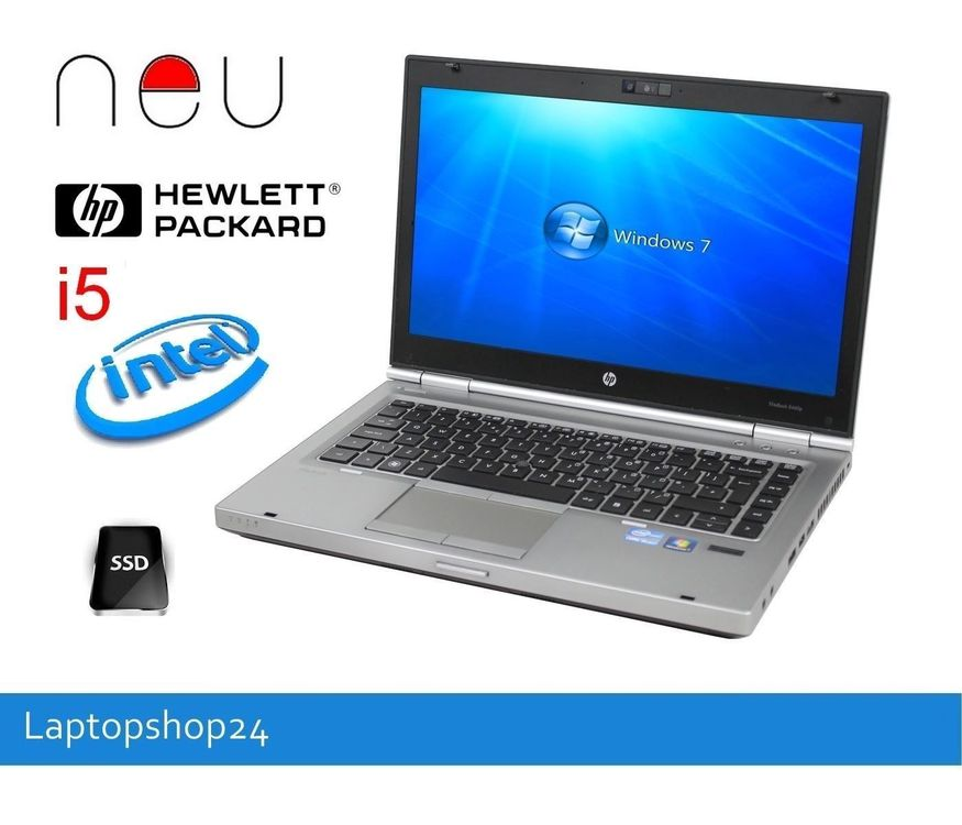 HP EliteBook 8460p i5-3.2 8GB SSD180 NEU