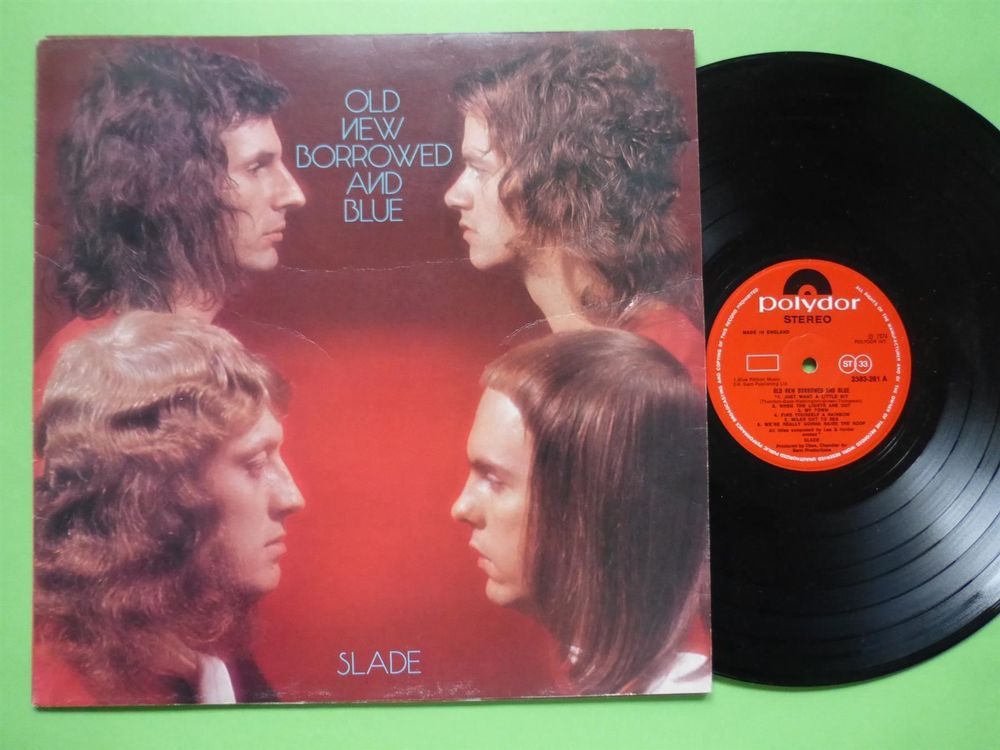 SLADE *LP* OLD NEW BORROWED AND BLUE