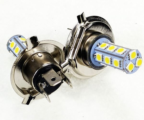 2X voiture H4 Xenon Blanc SMD 5050 18LED