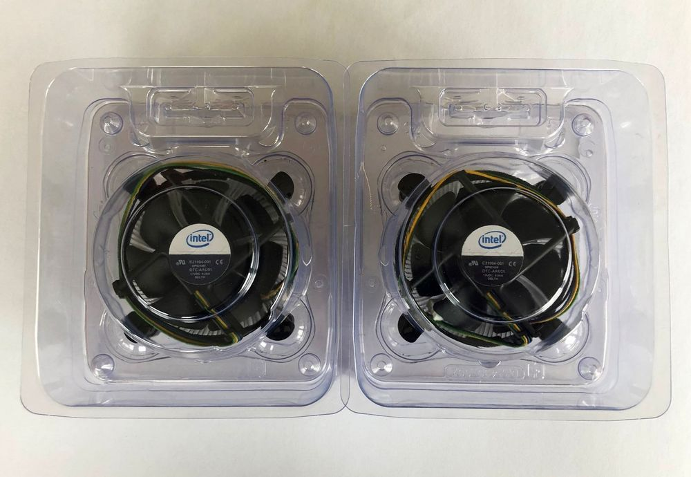 2 Original Intel CPU Cooler Socket 775