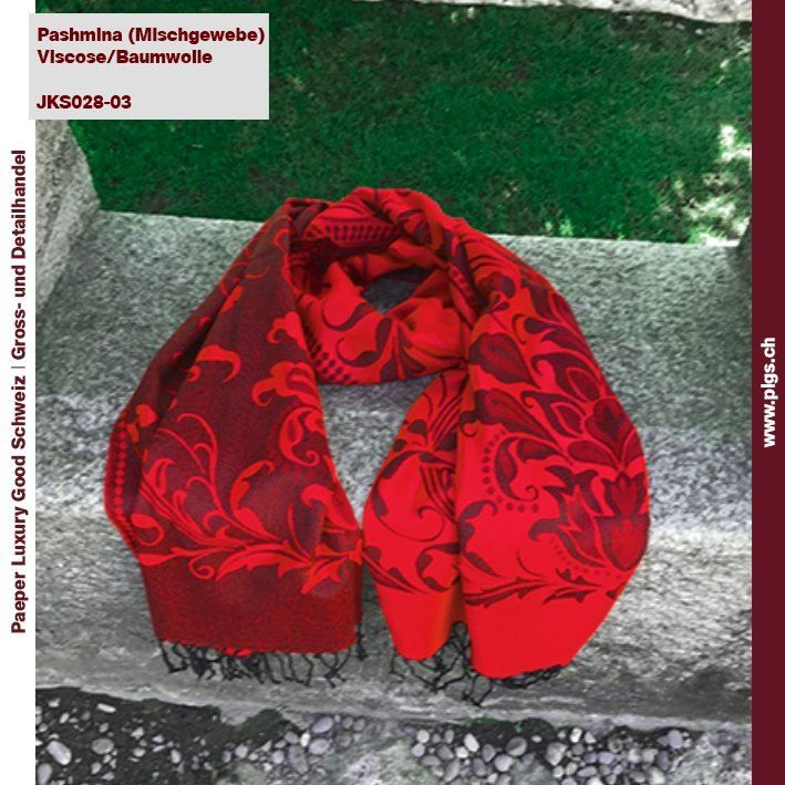 Pashmina Schal in Rot