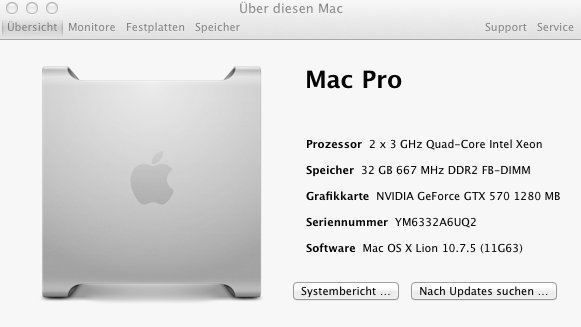Mac Pro 2.1 / 2x3GHz Quad/ 32GB / SSD