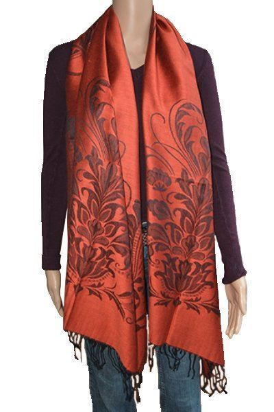 Schal aus Pashmina in Orange