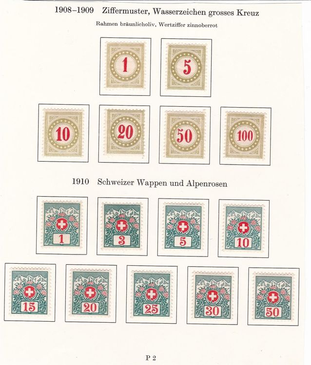 "CH Briefmarken Lot ""Nachportomarken"""