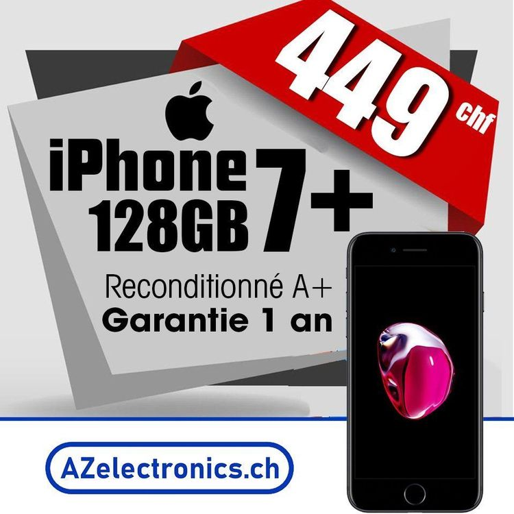 iPhone 7+ 128GB Reconditionné A+
