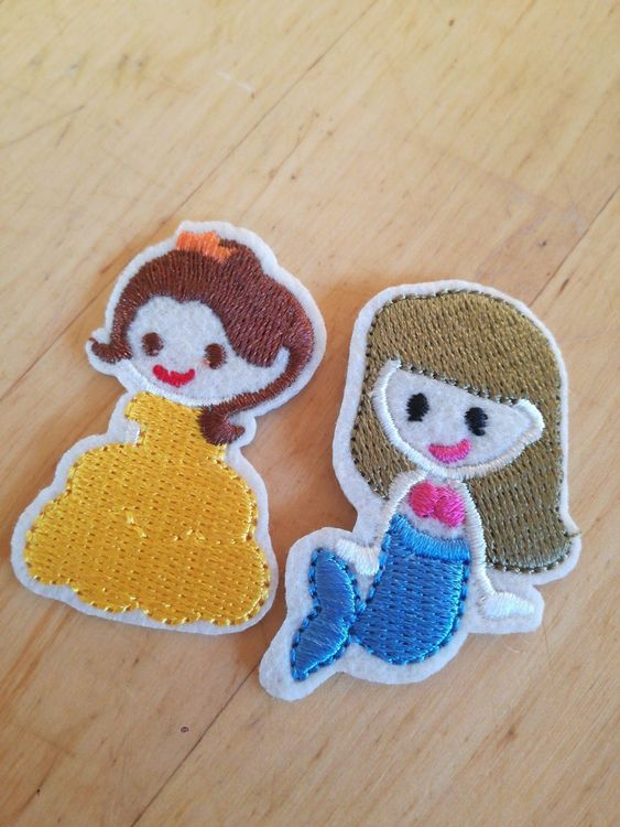 2 Prinzessin Belle Arielle Patch