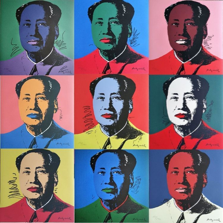 Andy WARHOL - MAO - Lithographien 10er ! 1