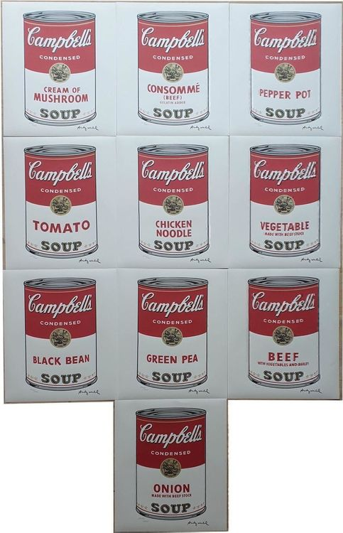 Andy WARHOL | 10Campbell's Soup komplett 1