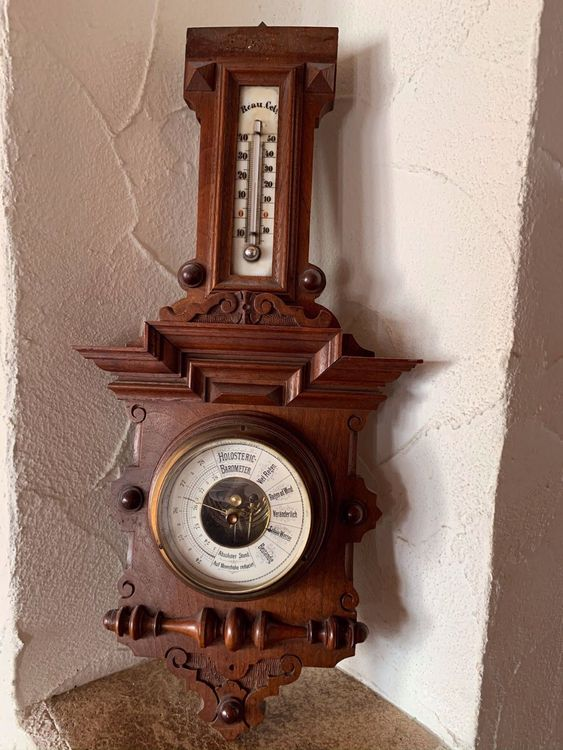 Holosteric Barometer und Thermometer