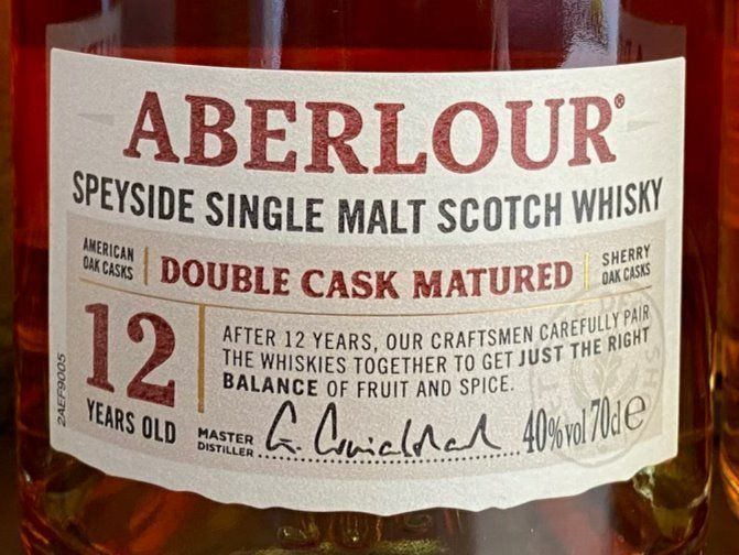 1x ABERLOUR 12YEARS DOUBLE CASK MATURED