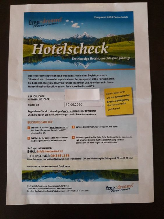 FREEDREAMS  1 HOTELSCHECK