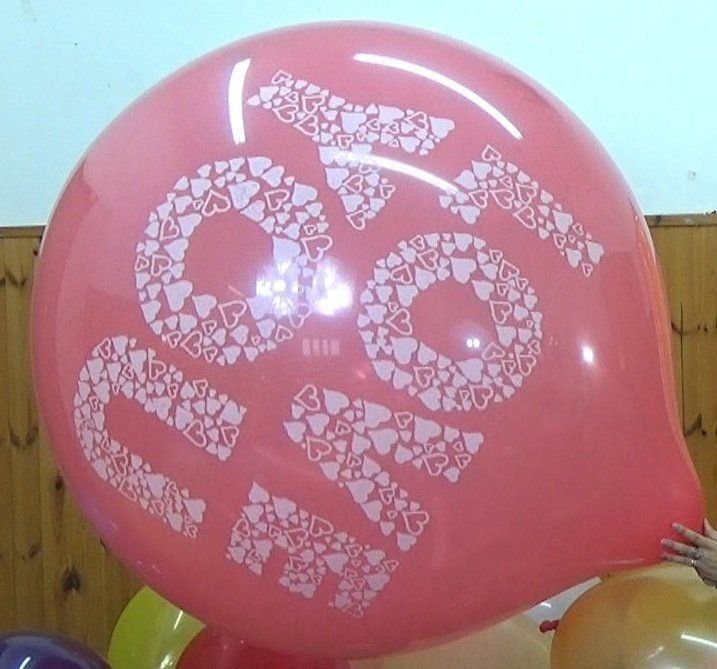 "1 Cattex 35"" Love you Riesenballon"