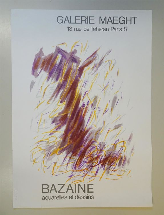 Bazaine Galerie Maeght Lithographie 1968 1
