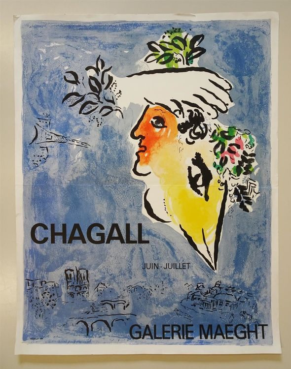 Chagall Galerie Maeght Lithographie 1964