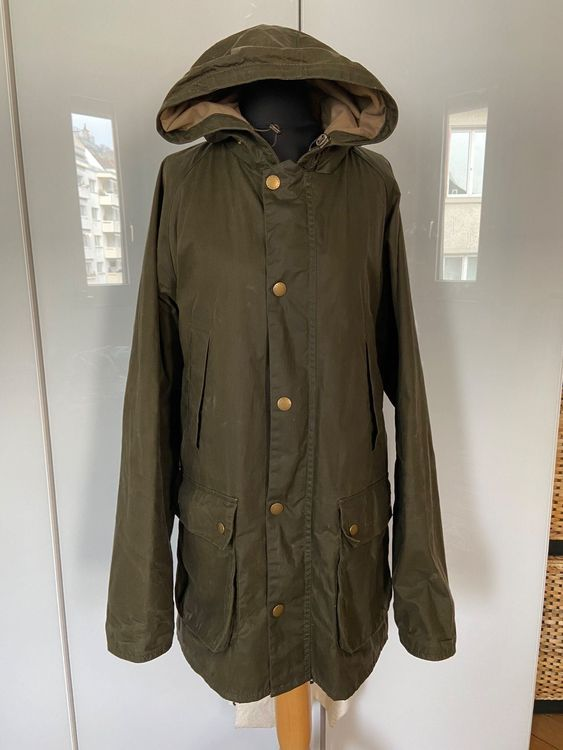 BARBOUR Waxed Hooded Lightweight Jacket