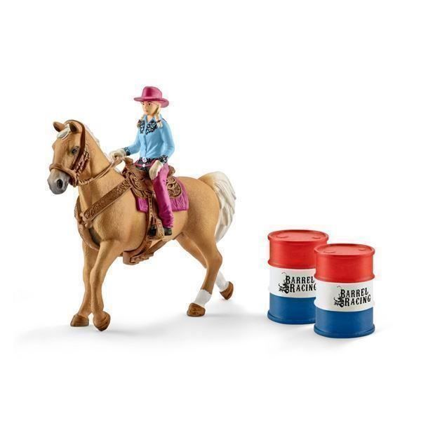 SCHLEICH 41417 - Barrel racing - Cowgirl