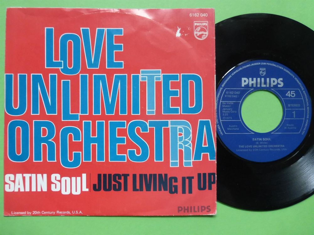 """LOVE UNLIMITED ORCHESTRA 7"""" SATIN SOUL"""