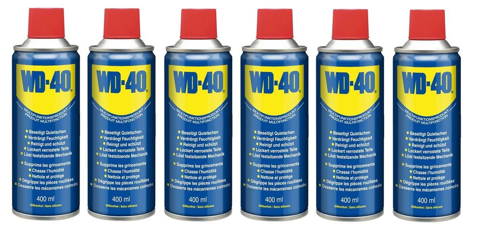 6x 400 ml WD-40 Multifunktionsspray