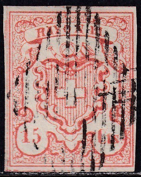 """RAYON III """"centimes"""", Zst.Nr.19 1"""