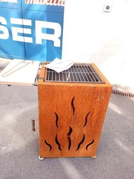 Feuerstelle + Grill Cube