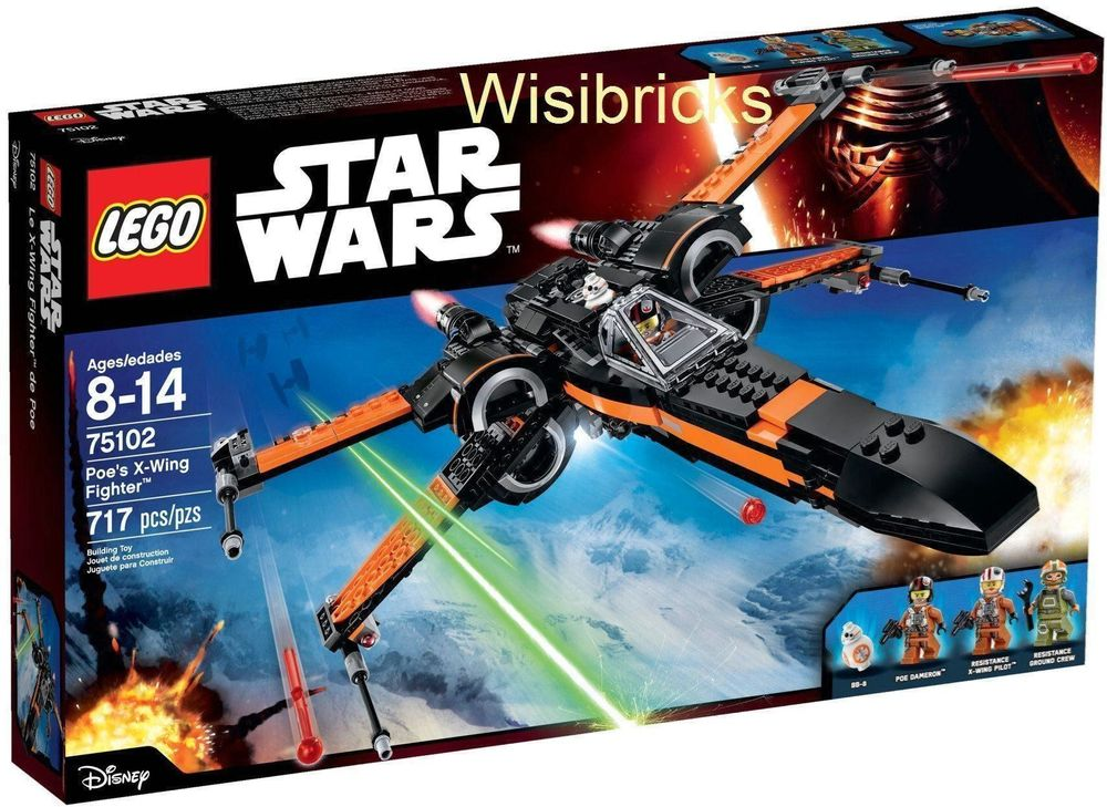 Poe's X-Wing Fighter 75102 - NEU+OVP!