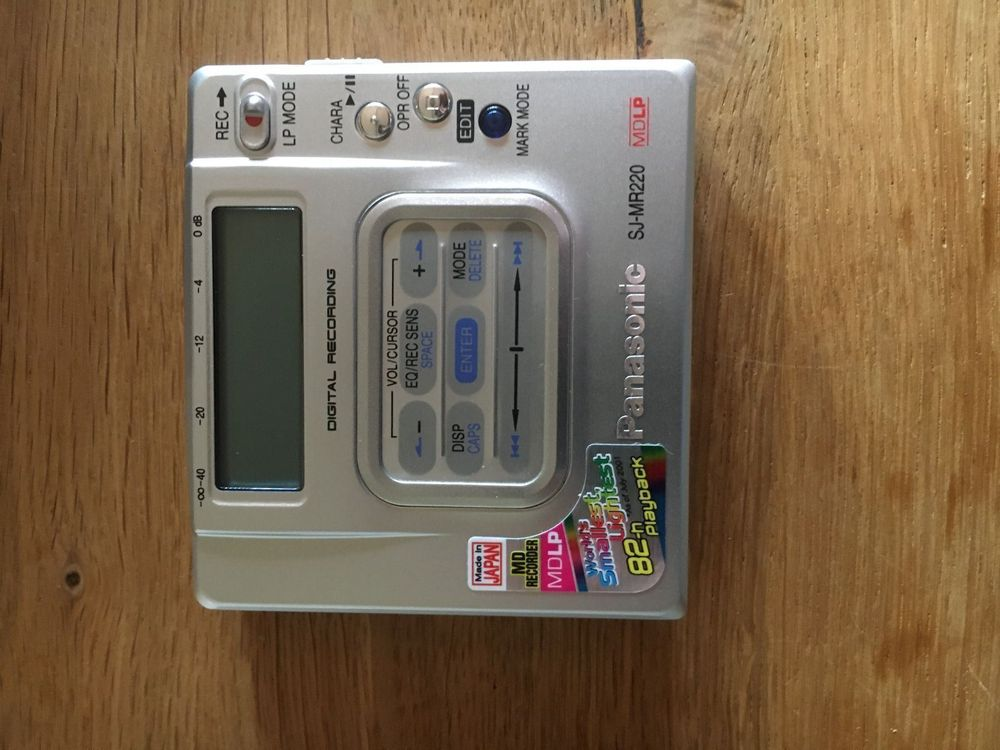 MD Recorder Minidisc Panasonic SJ-MR220