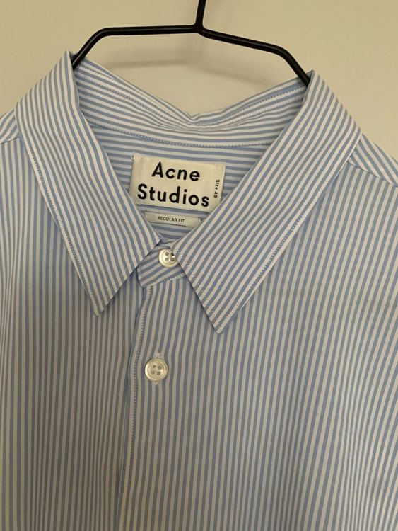 ACNE STUDIOS - Blue Stripe Viscose Shirt
