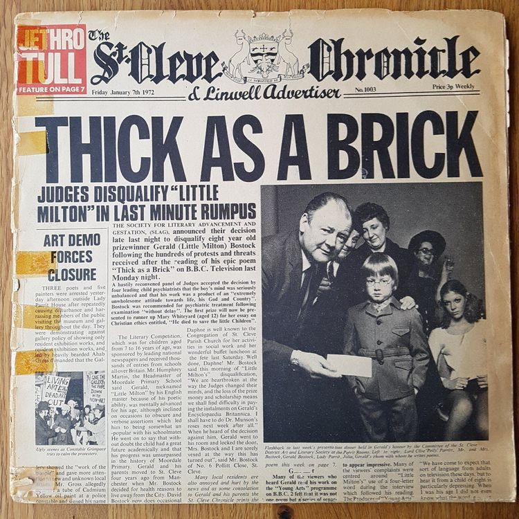 Jethro Tull - Thick As A Brick 1